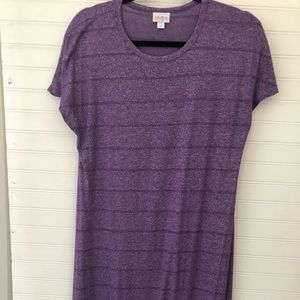 Lularoe Maria Maxi Dress Purple Rayon Blend Medium